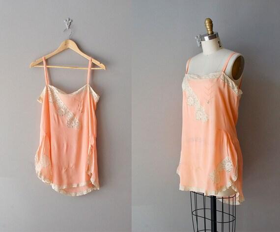 1920s lingerie / 20s flapper silk chemise / The Garconniere