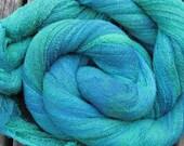 Hand Dyed Cotton Gauze/Scrim perfect for nuno felting - ATLANTIS