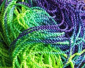3 metres Hand Dyed 2 ply Twisted Rayon Cord - PEACOCK