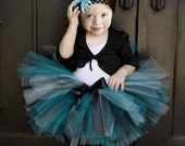 FUNKY BLuE MOON Tutu - Perfect for Birthdays, Photography Prop, Dance Recitals, Parties (Sizes NB - 24 months)