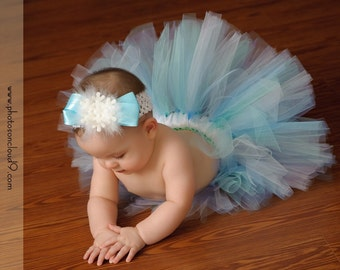 WINTER WONDERLAND Tutu - Perfect for Birthdays, Photography Prop, Baby Showers (Sizes up to 3T)