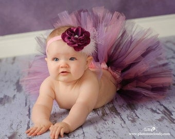 PLUM PERFECT Tutu - Perfect for Photos, 1st Birthdays, Baby Shower Gifts (Sizes up to 3T)