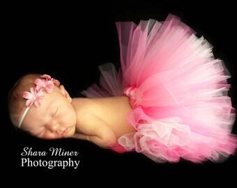 Newborn thru 24 months SWEET PINKS Tutu - Perfect for Photos, 1st Birthdays, Baby Shower Gifts
