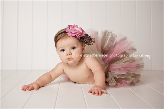 CHOCOLATE BERRYMiNT Parfait TUTU - Perfect for Photos, 1st Birthdays, Fall Photos, Baby Shower Gifts (Sizes up to 3T)