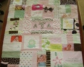 Memory Quilt with Vintage Chenille and Custom Designed Embroidery/Applique