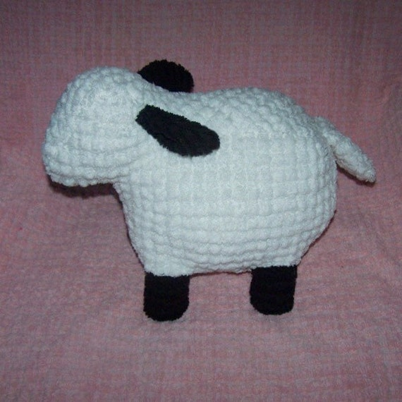 Genevieve, the Fluffy, Vintage Chenille Lamb