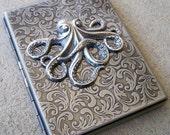 Victorian Octopus Antiqued Silver Cigarette Case
