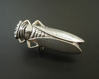 Cicada Sterling Silver Ring