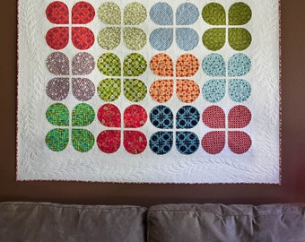 Retro Flowers Quilt Pattern