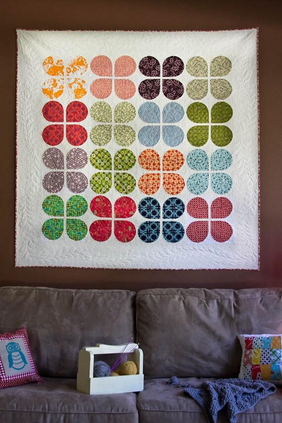 Retro Flowers Quilt Pattern
