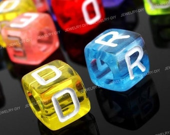 200 Mixed Color Alphabet Letter Spacer Beads M976