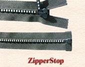 12 inch Swarovski Rhinestone Zipper-Separating Small Stones - Genuine Swarovski Crystals (Select Color)