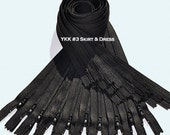 "18"" Twelve  Black  Zippers YKK number 3  Dress Zipper~  Color 580 Black ~Closed End~ZipperStop Wholesale Authorized Distributor YKK®"