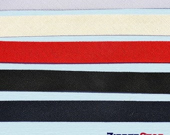 Double Fold Bias Tape  1/2 inch Width 50-percent polyester and 50-percent cotton Half-inch wide (Options Length, Color)