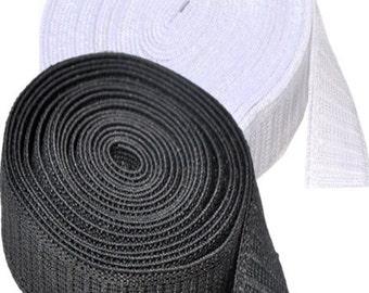 Elastic Non-roll Elastic 1 1/4 inch  - By Yard