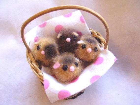 Mini Teddy Bear Hamster Babies by TinyBabyShop on Etsy
