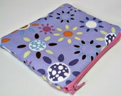 25% OFF Spring Clearance Sale  Zipper Pouch with fun sunshine by MoSewsIt