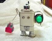 Beach Robot Sculpture Assemblage Cheeky Steampunk One of a Kind OOAK Irondog Mixed Media