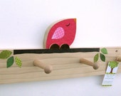 Hot Pink Bird Peg Rack - eco-friendly  by Maple Shade Kids