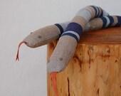 linen snake - blues