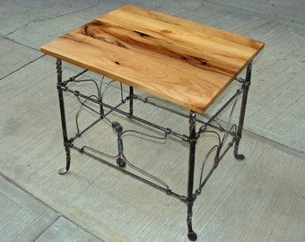 Mesquite and Iron Patio Table