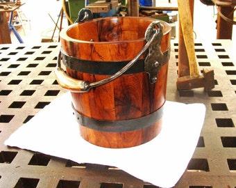 Handcrafted Wooden Bucket in Mesquite