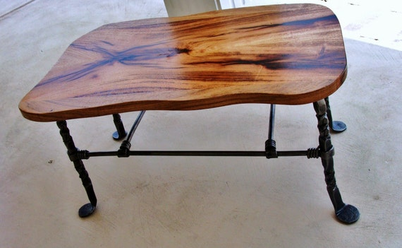 Mesquite and Iron Stool or Bench
