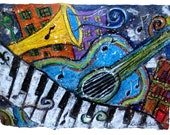Blue Guitar-LARGE PRINT