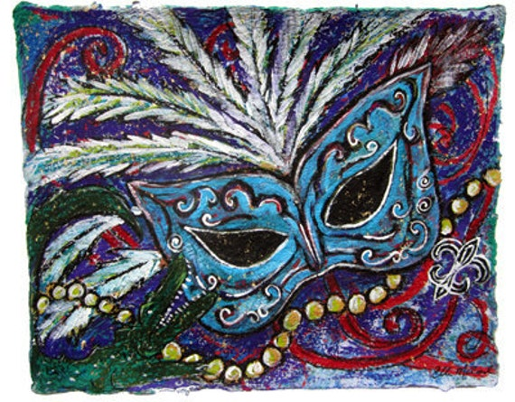 Queens Masquerade New Orleans Carnival mardi Gras- LARGE PRINT