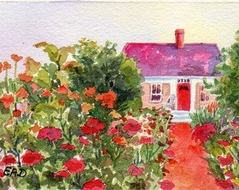ACEO print English Cottage