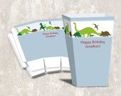 PRINT & SHIP Dinosaur Dig Birthday Party Mini Popcorn Boxes (set of 12)  >> personalized and shipped to you <<