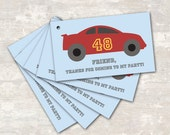 PRINT & SHIP Race Car Birthday Party Goodie Bag Gift Tags (set of 8) >> personalized and shipped to you <<