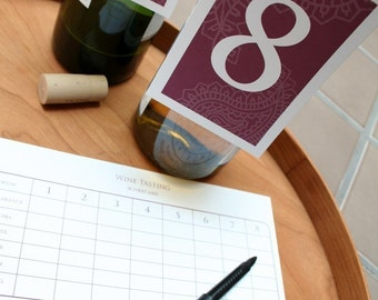 Wine Tasting PRINTABLE Party Collection - You Customize EDITABLE TEXT >> Instant Download | Paper and Cake