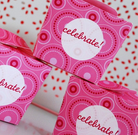 Pink 1st Birthday Polka Dot Candle: Pink Polka Dot Birthday Party Invitation Garland Favor