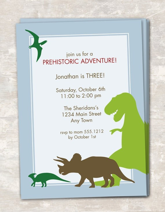 print & ship dinosaur dig birthday party invitations (set of 12, Birthday invitations
