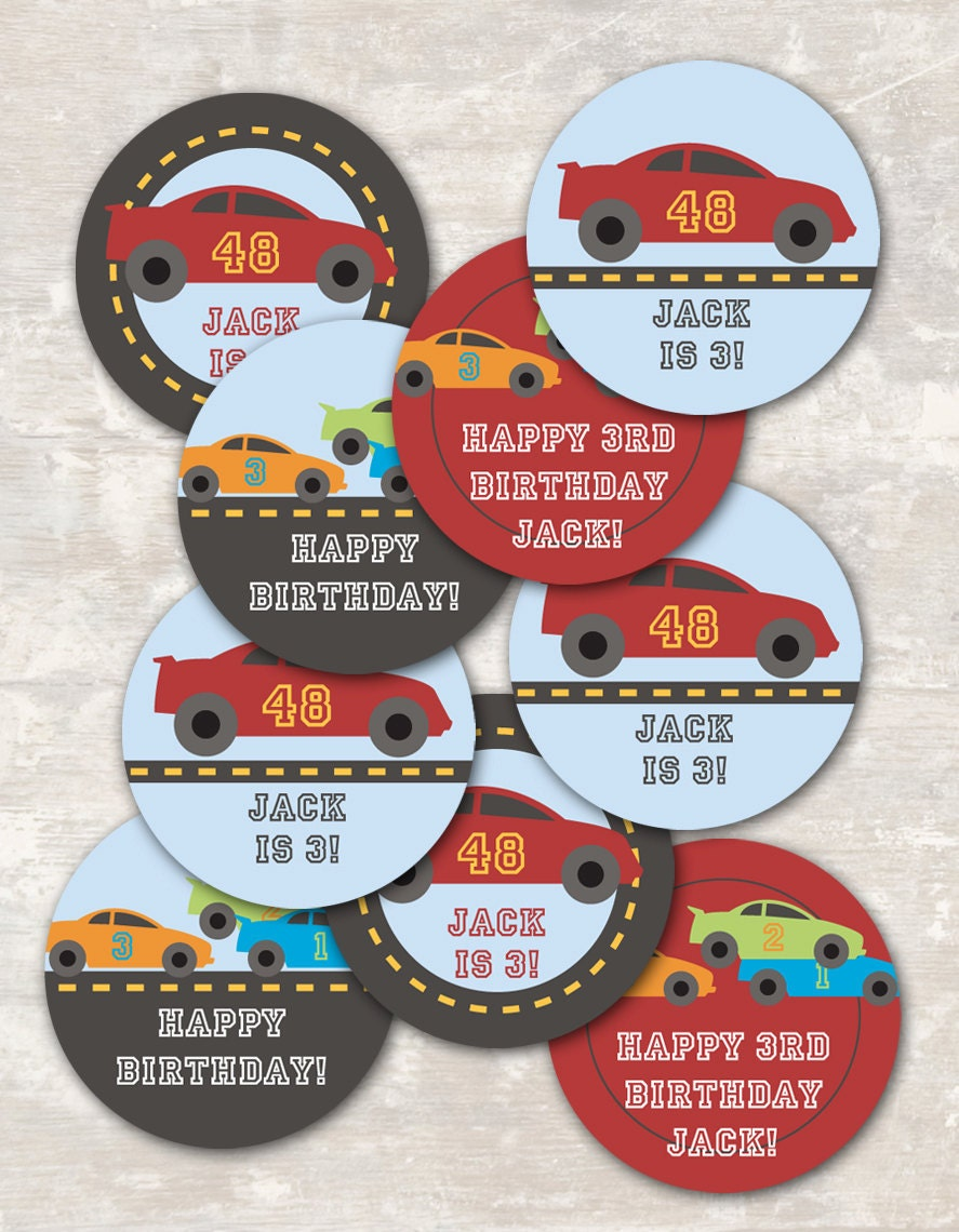 Race Car Cupcake Picks