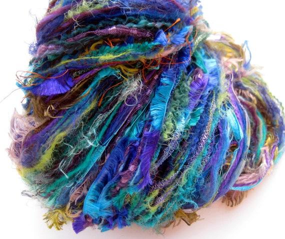 SALE 10% Off, Peacock component yarn super skein