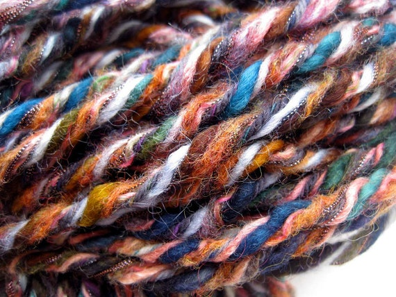 CLEARANCE 45% OFF-handmade upcycled yarn, Raku