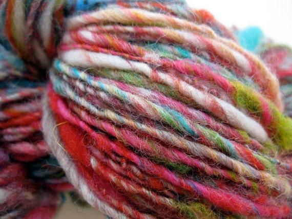 handspun yarn, Dreams out my Window