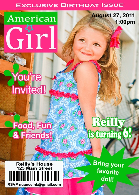 Items Similar To Custom American Girl Doll Birthday Party