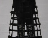 Long Black Cage Skirt ready to ship in size small or large