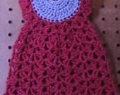 Dishcloth Dress Gray Red DC0038