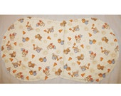 Hemstitched Burp Cloth - Boys Construction Print