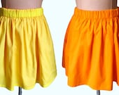 Reversible skirt (L) Yellow/Orange - two skirts in one