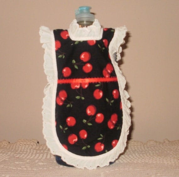 Black and Red Cherry Dish Soap Apron