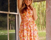 Amy Cotton Floral Dress with Pockets Size 16 - PREMADE - SAMPLE SALE