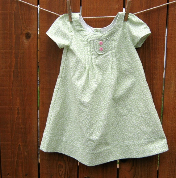 Little Girls Dress , Lightly Lime , Size 3T