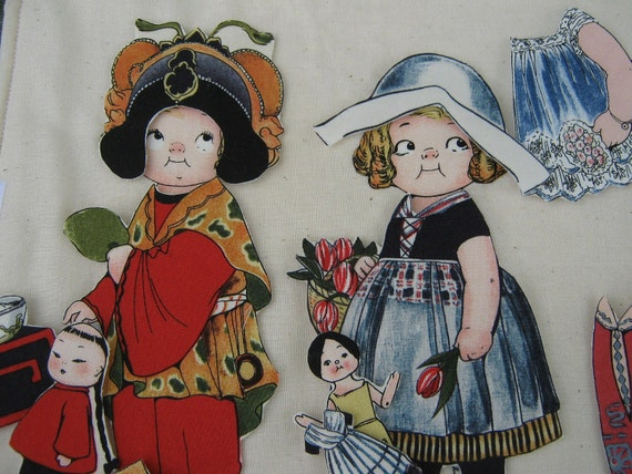 International Paper Dolls , Fabric