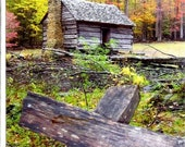 Gatlinburg Pioneer Cabin- Photo Note Card