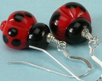 Lucky Lady Bug Earrings